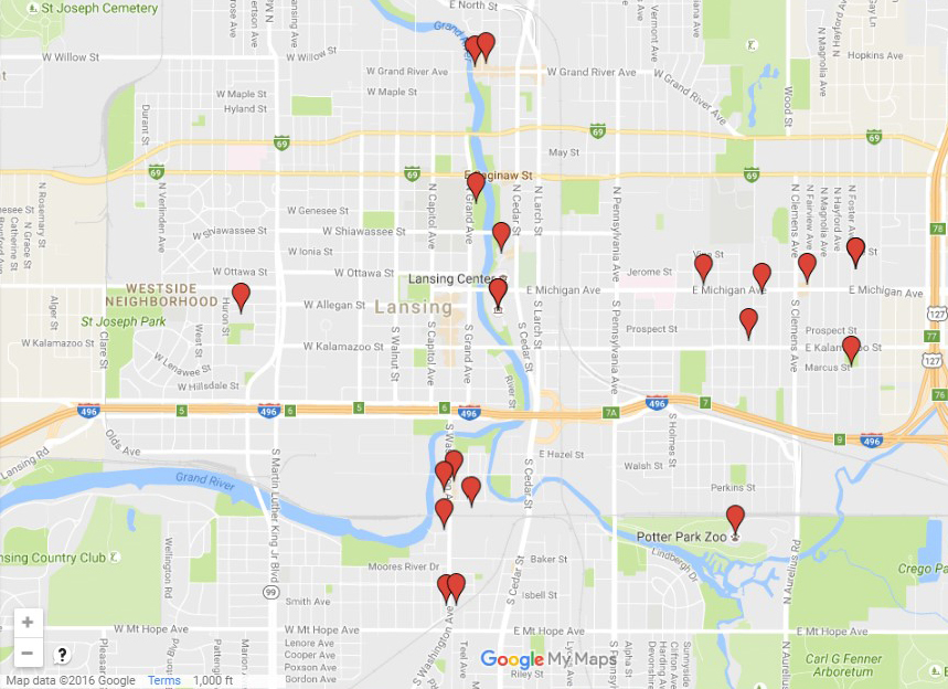 Map of Community Art Projects